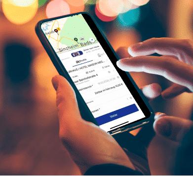 Die Taxi App Karlsruhe von Taxi-Holl ist einfach in der Handhabung und bestellt Dir schnell und bequem ein Taxi.
